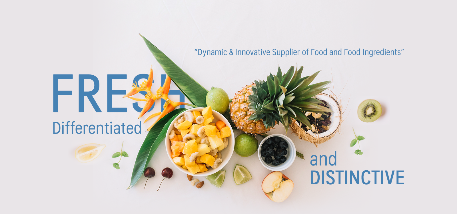 Dynamic & Innovative Supplier of Food and Food Ingredients